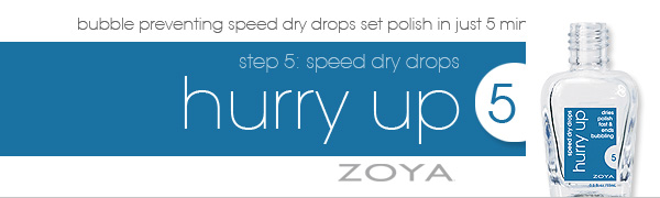 HurryUp Drying Drops Banner