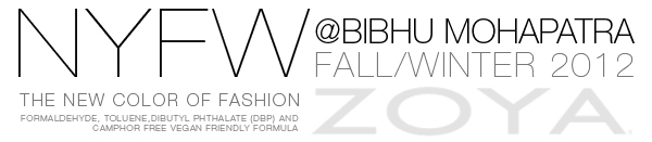 Bibhu Mohapatra Zoya Nail Polish NYFW2012 Custom Colors