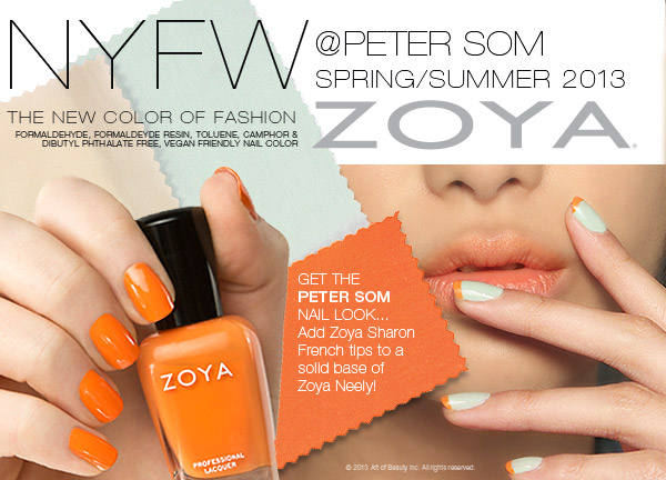 Peter Som NYFW 2013 Spring Summer Custom Nail Polish Color