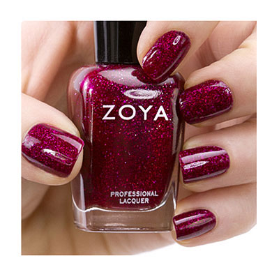 Zoya Nail Polish ZP641  Blaze  Purple Plum Red Nail Polish Holographic Nail Polish