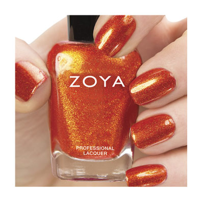 Zoya Nail Polish ZP670  Amy  Orange Coral Nail Polish Mettalic Nail Polish