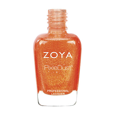 Zoya Nail Polish ZP677 Zoya PixieDust Nail Polish Beatrix  Orange Coral Nail Polish PixieDust Nail Polish