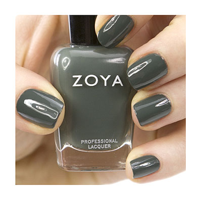 Zoya Nail Polish ZP630  Evvie  Green Grey Nail Polish Cream Nail Polish