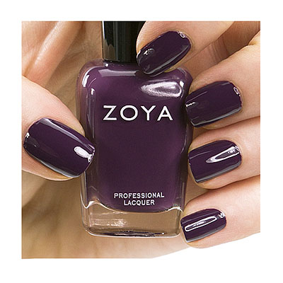 Zoya Nail Polish ZP628  Monica  Purple Plum Burgundy Nail Polish Cream Nail Polish