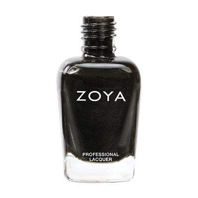 Zoya Nail Polish ZP387  Raven  Black Nail Polish Metallic Nail Polish