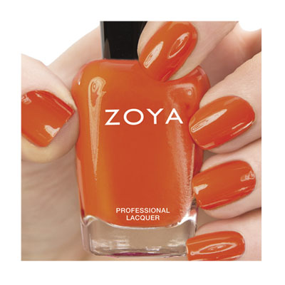 Zoya Nail Polish ZP664  Thandie  Orange Coral Nail Polish Cream Nail Polish