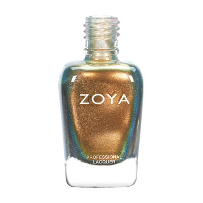 Zoya Nail Polish - Aggie - ZP811 - Gold, Copper, Metallic, Warm, Neutral