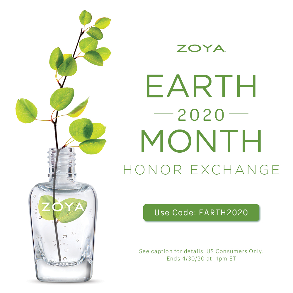zoya earth month honor exchange 2020