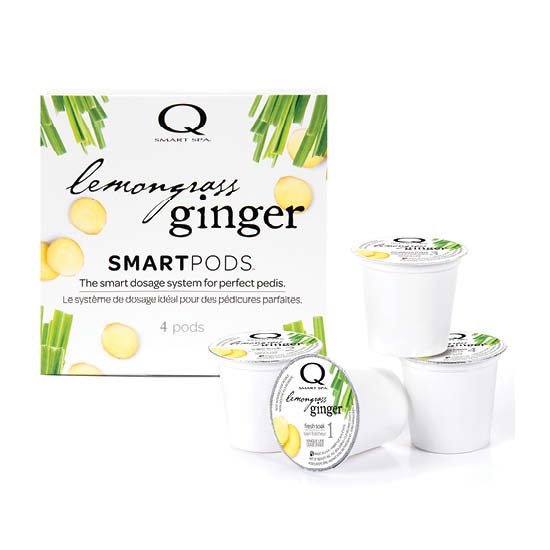 Smart Spa Smart Pod 4 Step System Pack - Box and Pods in Lemongrass Ginger
