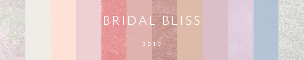 bridal bliss 2019 banner showing 12 colors