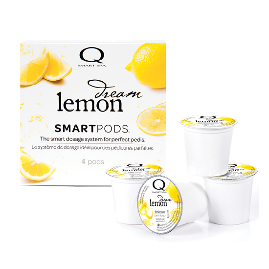 Smart Spa Smart Pod 4 Step System Pack - Box and Pods in Lemon Dream