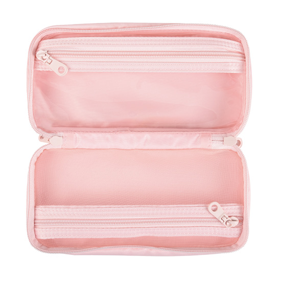 Pink Zipper Bag - Interior View (alternate view 1)