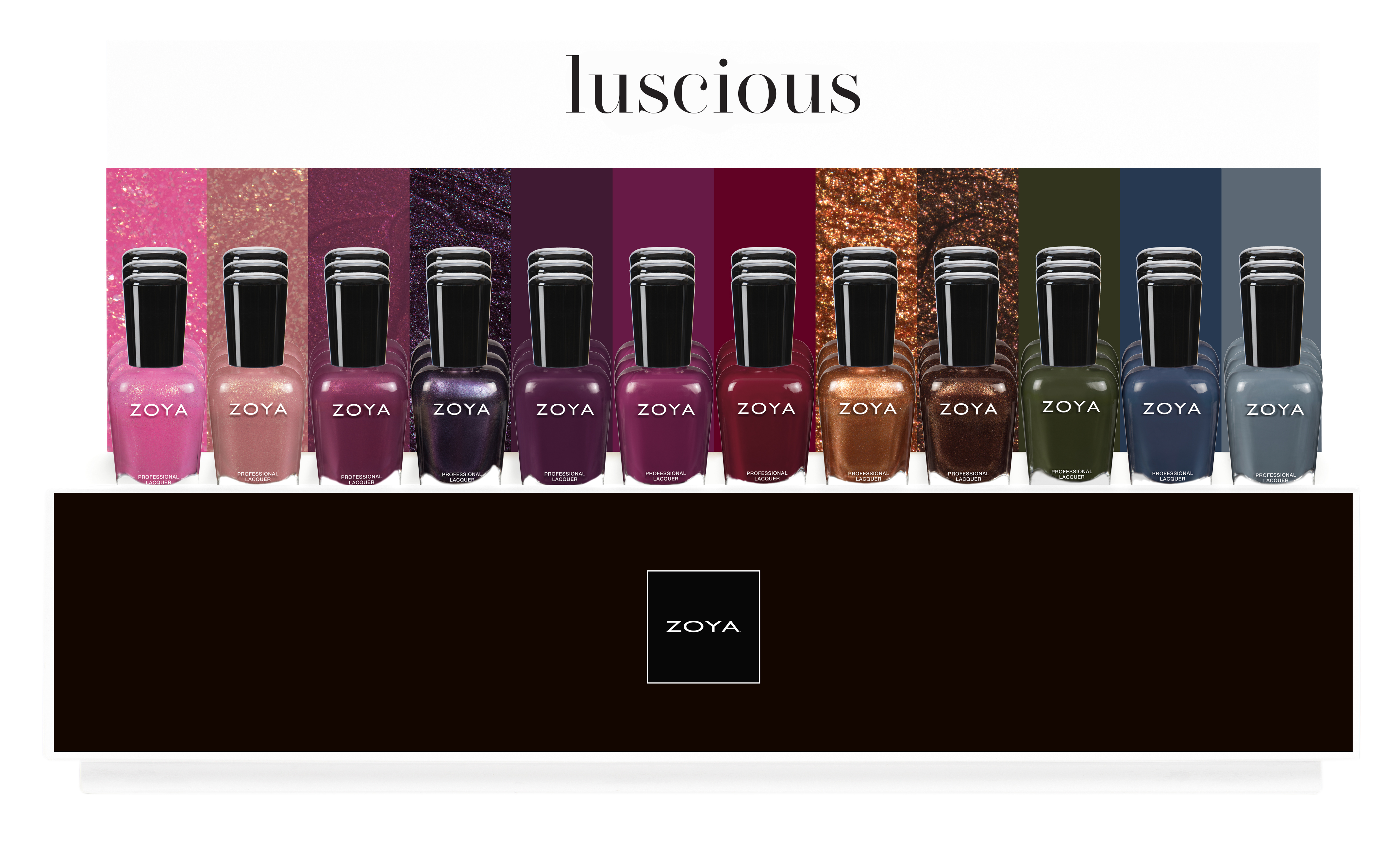 zoya luscious 24 pc display