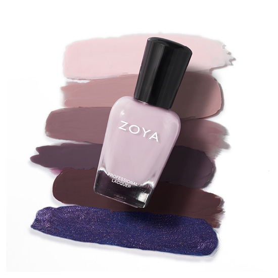Zoya Nail Polish in Evelyn Bottle over swatches (alternate view 2)