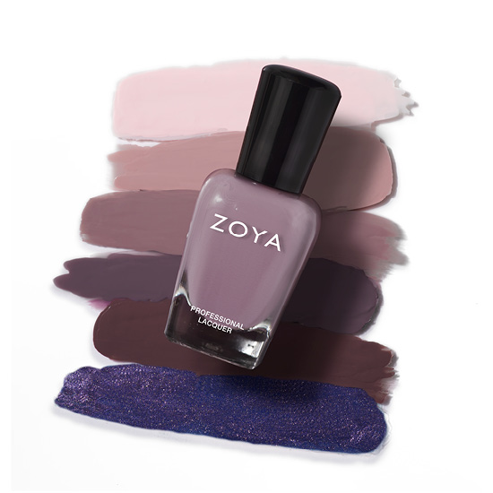 Zoya Nail Polish in Barrett Bottle over swatches (alternate view 2)