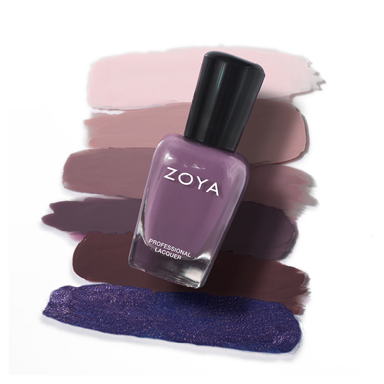 Zoya Nail Polish in Vivian Bottle over swatches (alternate view 2)