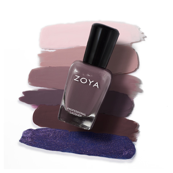 Zoya Nail Polish in Adeline Bottle over swatches (alternate view 2)