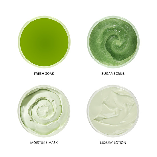 Smart Spa Smart Pod 4 Step System Pack -Pods Top View in Lime Zest