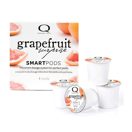 Smart Spa Smart Pod 4 Step System Pack - Box and Pods in Grapefruit Surprise