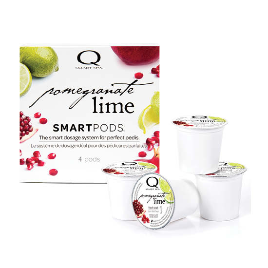 Smart Spa Smart Pod 4 Step System Pack - Box and Pods in Pomegranate Lime