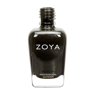 Zoya Nail Polish - Claudine - ZP690 - Black, Metallic, Neutral