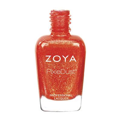 Zoya Nail Polish - Dhara - PixieDust - Textured - ZP703 - Orange, Cool