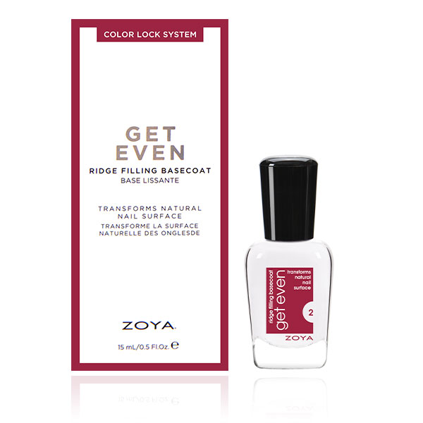 Zoya Get Even Ridge Filler Base Coat  ZTGE01    professional nail care treatments  beauty supplies