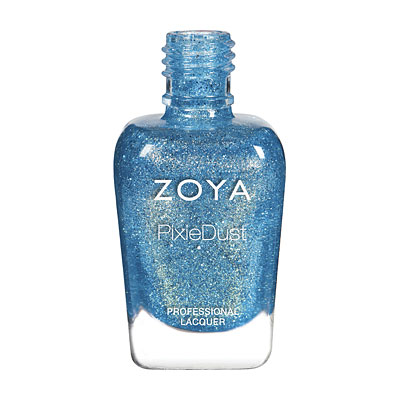 Zoya Nail Polish - Bay - PixieDust - Textured - ZP845 - Blue, Cool
