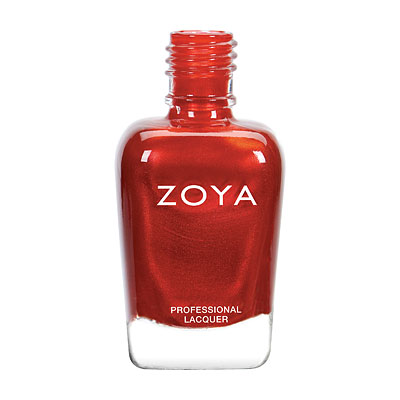 Zoya Nail Polish - Ember - ZP810 - Red, Metallic, Warm, Neutral