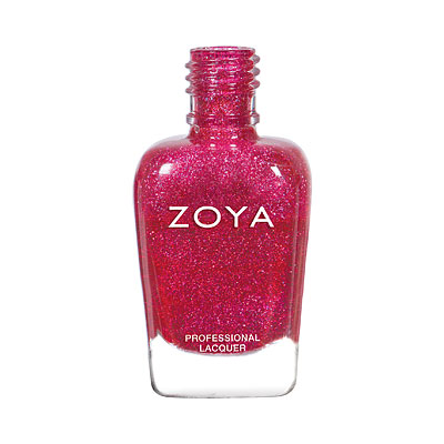 Zoya Nail Polish - Everly - ZP884 - Red, Holographic, Warm