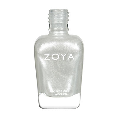 Zoya Nail Polish - Ginessa - ZP485 - White, Metallic, Cool