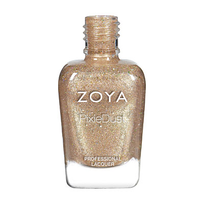 Zoya Nail Polish - Levi - PixieDust - Textured - ZP841 - Gold,  Warm