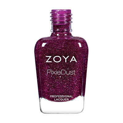 Zoya Nail Polish - Lorna - PixieDust - Textured - ZP873 - Plum,Purple, Cool,Warm