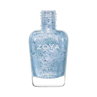 Zoya Nail Polish - Saldana - ZP940 - Blue, Topper, Iridescent, Cool