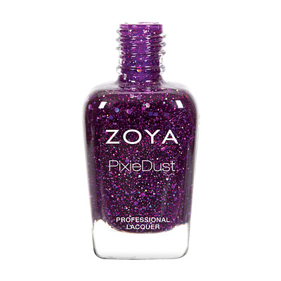 Zoya Nail Polish - Thea - ZP767 - Purple, PixieDust - Textured, Cool