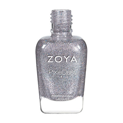 Zoya Nail Polish - Tilly - PixieDust - Textured - ZP846 - Silver, Grey, Cool