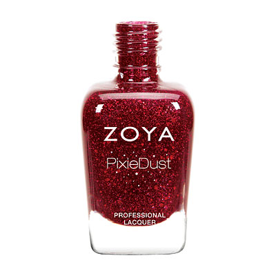 Zoya Nail Polish - Oswin - Ultra PixieDust - Textured - ZP729 - Red, Cool