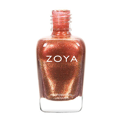 Zoya Nail Polish - Autumn - ZP754 - Copper, Red, Orange, Metallic, Warm