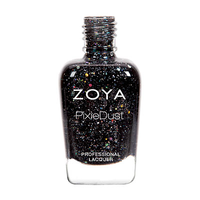 Zoya Nail Polish - Imogen - ZP768 - Black, PixieDust - Textured, Cool