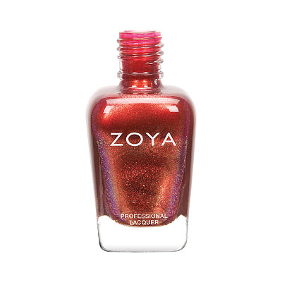 Zoya Nail Polish - Tawny - ZP925 - Red, Copper, Metallic, Cool