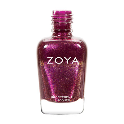 Zoya Nail Polish - Teigen - ZP756 - Purple, Red, Metallic, Cool