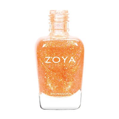 Zoya Nail Polish - Alma - ZP741 - Orange, Yellow, Glitter, Jelly, Warm