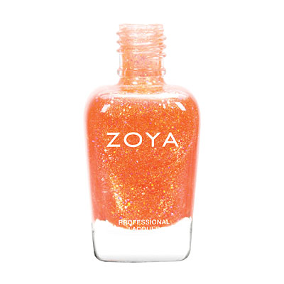 Zoya Nail Polish - Jesy - ZP740 - Orange, Glitter, Jelly, Warm