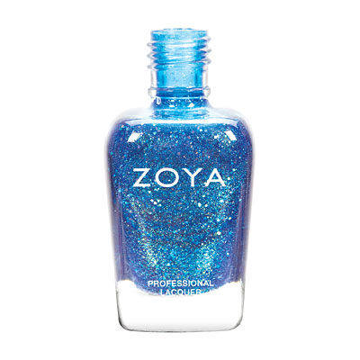 Zoya Nail Polish - Muse - ZP737 - Blue, Glitter, Jelly, Cool