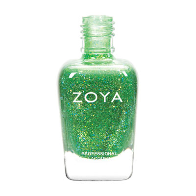Zoya Nail Polish - Stassi - ZP736 - Green, Glitter, Jelly, Cool