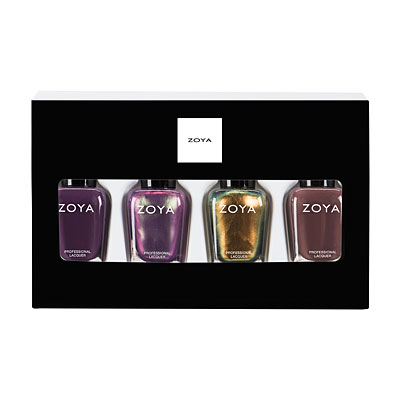 ZPHOL1704QUAD Zoya Polish Quad: Tis the Season holiday holliday gift sets stocking stuffers (main image full size)