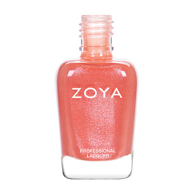 Zoya Nail Polish - Zahara - ZP838 - Coral, Orange, Metallic, Warm