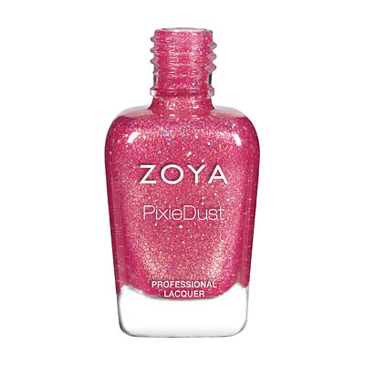 Zoya Nail Polish - Zooey - PixieDust - Textured - ZP843 - Pink, Cool