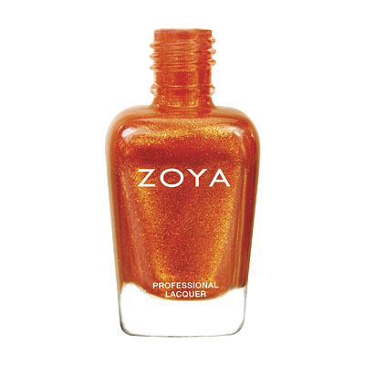Zoya Nail Polish - Amy - ZP670 - Orange, Metallic, Warm