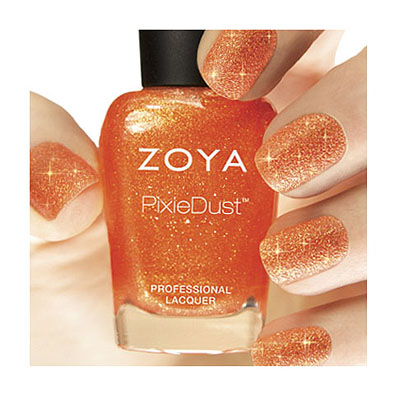 Zoya Nail Polish ZP677 Zoya PixieDust - Textured Nail Polish Beatrix  Orange Coral Nail Polish PixieDust - Textured Nail Polish
